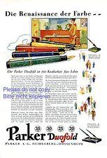 Parker Duofold XL Reklame von 1929 Füller Federhalter Heidelberg Dossenheim