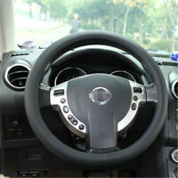 Luxury Auto Silicone Steering Wheel Universal Plush Leather Texture Car