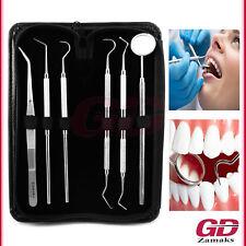 6er Dental Set Zahnreinigung Zahnsonde Zahnpflege Spiegel Zahnarzt Instrumente