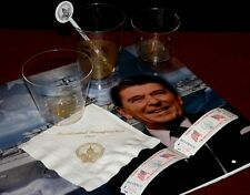 President RONALD REAGAN 1981 & 85 Inaugural CUPS, NAPKIN, STIRRER, DRINK TICKETS