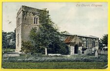 cpa Old Post Card ANGLETERRE ROYAUME UNI Old CHURCH SKEGNESS Miss Kate KINSLEY