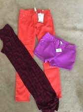 New Girls Justice pants, shorts,  Lot Of Clothing Size 14