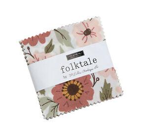 "Folktale Moda Mini Charm Pack 42 100% Cotton 2.5"" Precut Quilt Squares"