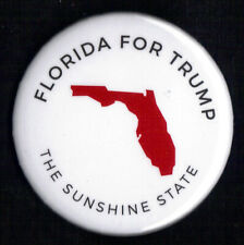 "2016 Donald Trump 2.25""/ ""Florida - White"" Official Presidential Campaign Button"