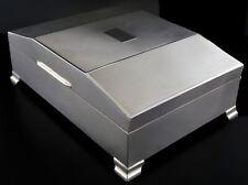 Vintage 1961 Alexander Clark Sterling Silver Cedar Footed Cigarette Tobacco Box