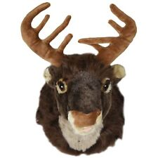 Christmas 40cm Singing Reindeer Head Xmas Wall Decoration Motion Activated Plush