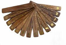Vintage Wooden Incense Joss Stick Flat Holder Insense Ash Catcher Fragrance