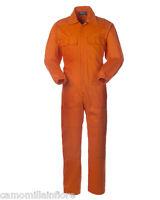 Tuta Intera da Lavoro su Strada Per Cantiere CE1 Cotone  A40109 Arancione