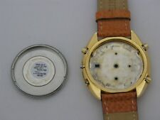 Case with dial and orange leather strap, caliber 7T32