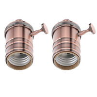2x Edison Vintage Retro Lamp Light Base Socket Holder for E27 E26 Screw Bulb