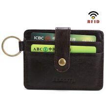 1 PC Mens RFID Wallet Minimalist Small Cards Organizer Functional Keychain Purse