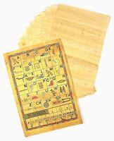 10 Fogli Originale Egiziano Vuoto Papiro Carta & Geroglifici Informazioni Rotoli