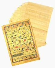 10 SHEETS GENUINE EGYPTIAN BLANK PLAIN PAPYRUS PAPER & HIEROGLYPHICS INFO SCROLL