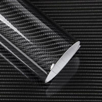 "20""x60"" 5D Carbon Fiber Wrap Vinyl Decal Sheet Bubble Free Air Release Gloss"