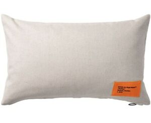VIRGIL ABLOH x IKEA Markerad Collection PILLOW Cushion Cover Beige Case Sham NEW