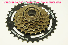 SHIMANO TZ30 6 SPEED MEGA RANGE FREEWHEEL SCREW ON CASSETTE 14/34 TEETH MF-TZ30