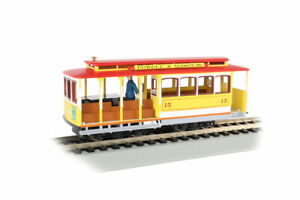 Bachmann HO Yellow & Red - Cable Car with Grip Man 60538 NEW