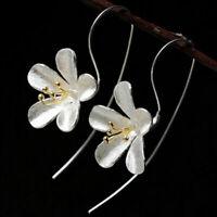 Ohrhänger Ohrstecker Ohrringe Blume Blüte Lotus Stab Schick Edel Boho