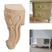 4PCS 10x6cm European Style Solid Wood Carved Furniture Foot Legs TV Cabinet K5K9
