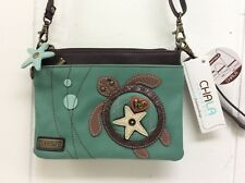 Chala Sea Turtle Mini Crossbody Small Convertible Light Teal Green Purse New