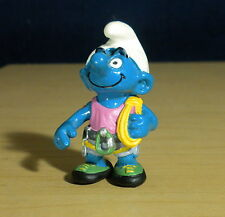 Smurfs Hefty Smurf Mountain Climber Hiking Gear Vintage Toy Figure Lot PVC 20468