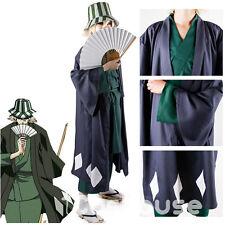 Bleach Kisuke Urahara Cosplay Halloween Costume Outfit Full Set Men Clothiing
