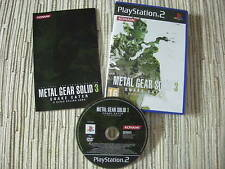 METAL GEAR SOLID 3 SNAKE EATER HIDEO KOJIMA PLAYSTATION 2 PS 2  USADO BUEN ESTAD