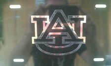 Auburn black and chrome  license plate tag