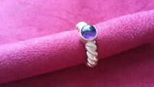 Beautiful Heavy Ropes Solid Purple Ring Real Sterling Silver *Size 7 1/4 *E047