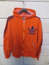 VINTAGE Veste à capuche ADIDAS Trefoil orange Ventex tracktop jacket 70's 168 S