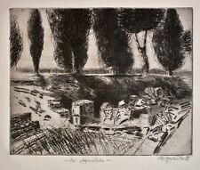 Ulrich hachulla - in Aquileia-Etching - 1988