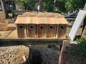 BLUEBIRD CEDAR BIRD HOUSE NEW HANDMADE 5/8 CEDAR with squirrel guard