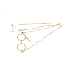 Harry Potter Glasses Necklaces Gypsies Scarring Lightning Necklace gold