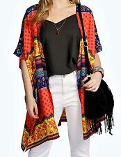 Stunning Ladies Loose Fitting Bright Mix Kimono Fits  Sizes 16 (Free Post)