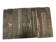 10 Pack, GABOON EBONY Thin Stock Lumber Board, Ukelele Wood 14