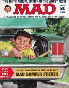 Worst from Mad  #10 1968 no bumper sticker