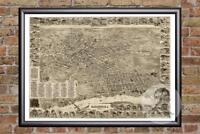 Vintage Elizabeth, NJ Map 1898 - Historic New Jersey Art - Victorian Industrial