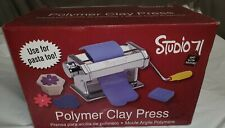 Darice Studio 71 Machine Craft Polymer Clay Press Roller 7 Thickness Table Clamp