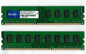 8GB 2 x 4GB DDR3 1066 MHz Desktop RAM PC3 8500 U DIMM 240 pin Memoz 5 Years Wty