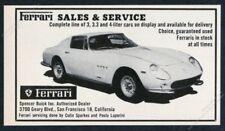 1965 Ferrari 275 GTB car photo vintage print ad