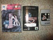 Resident Evil 2 (Nintendo 64 N64) Complete in Box FAIR