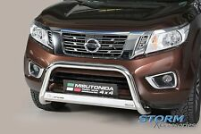 Nissan Navara NP300 2015 ON Stainless Steel MACH Front A Bar - BULL Bar - 63mm