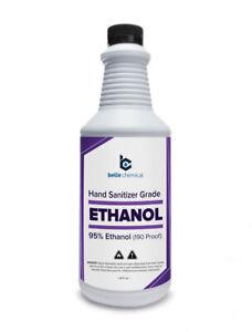 Ethyl Alcohol (Ethanol) 95% (190 Proof) - No Fermentation Smell - No Methanol
