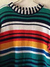 Jones New York Sport Ladies Small Multicolor Striped Crewneck Pullover Sweater