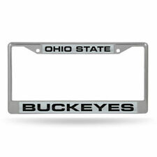 Desert Cactus Ohio State University Buckeyes NCAA Metal License Plate Frame for Front Back of Car Officially Licensed Mom