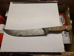 Vintage F.Dick Butcher Knife Blade Wood Handle Made In Germany pre owned
