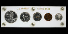 1941 US Proof Set Walking Liberty Half, Quarter, Nickel, Cent and Mercury Dime