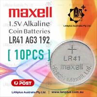 Maxell 10X AG3 1.5v LR41 AG3 L736 392 SR41 192 Alkaline Button Coin Battery
