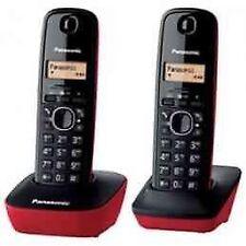 Teléfono Inalámbrico telefono Panasonic Kxtg1612spr duo rojo