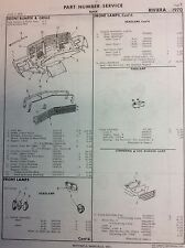 1970 Buick  Riviera  Crash body parts sheets with part numbers